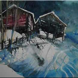 Aquarelle - Winterlandschaften